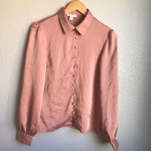 Top Shop Light Pink Blouse